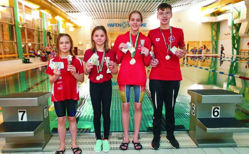 ESV-Schwimmer gewinnen in Fürstenwalde vier Pokale